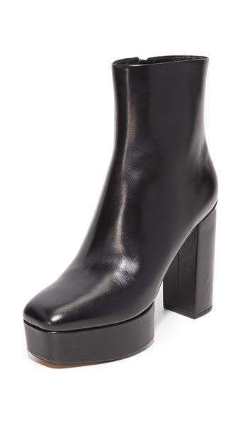ALEXANDER WANG Cora Leather Platform Ankle Boots at Shopbop