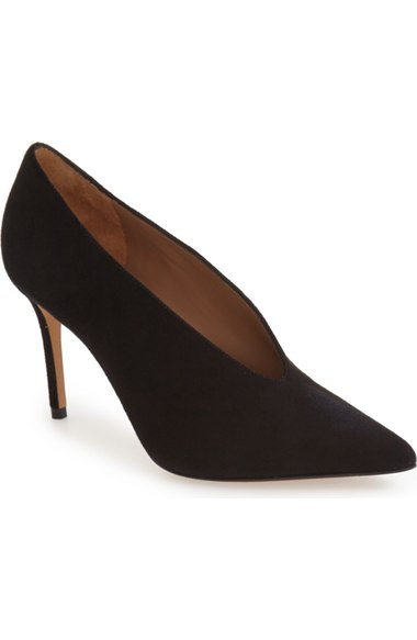 VINCE Portia Suede Pointed-Toe Pump, Black at Nordstrom