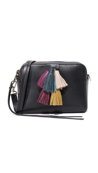REBECCA MINKOFF Sofia Mini Tassel Crossbody Bag, Black/Multi at Shopbop
