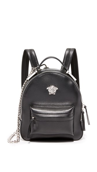 VERSACE Palazzo Black Leather Medusa Backpack at Shopbop