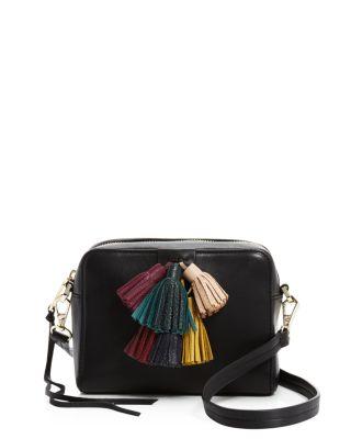 REBECCA MINKOFF Sofia Mini Tassel Crossbody Bag, Black/Multi at Bloomingdale's