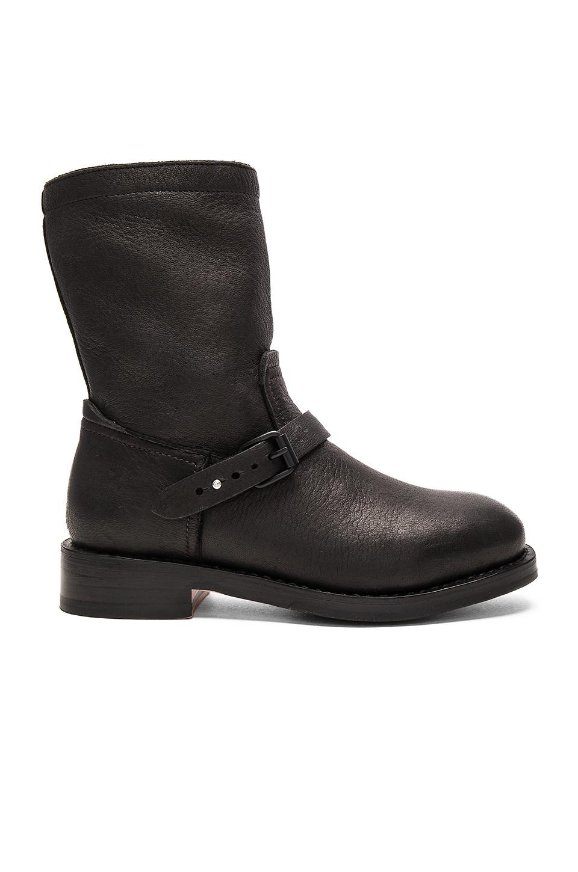 RAG & BONE Oliver Pebbled Leather Boot, Black at REVOLVE
