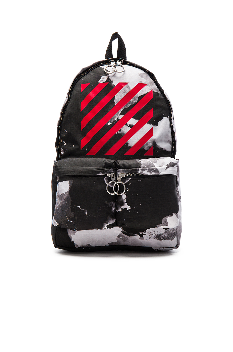 off white sky print cotton backpack in all over red modesens. Black Bedroom Furniture Sets. Home Design Ideas
