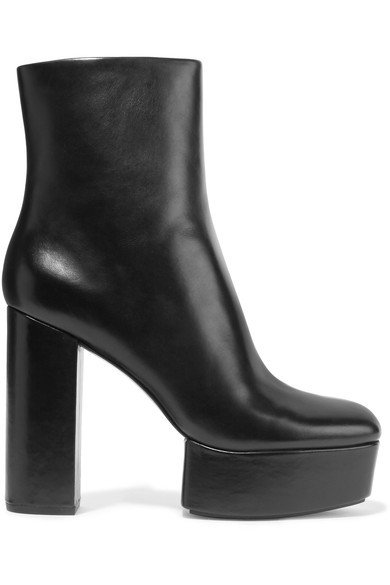 ALEXANDER WANG Cora Leather Platform Ankle Boots at NET-A-PORTER