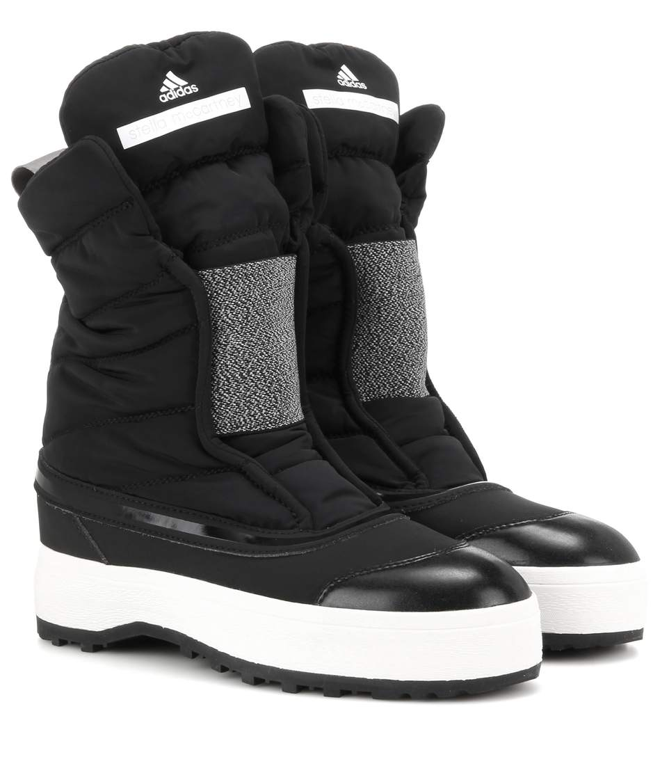 ADIDAS BY STELLA MCCARTNEY Black Nangator 3 Winter Boots in Black White