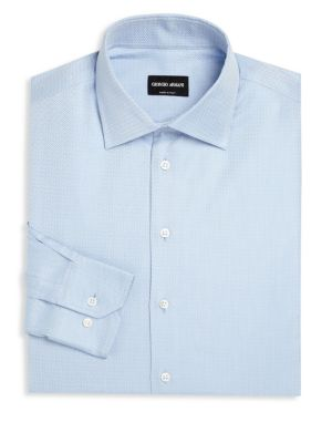 GIORGIO ARMANI Striped Long Sleeve Regular-Fit Dress Shirt at Saks Off 5TH