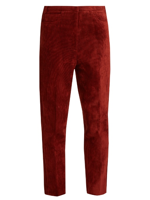 GOLDEN GOOSE Kenzie Cropped Corduroy Trousers at MATCHESFASHION.COM
