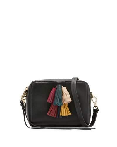 REBECCA MINKOFF Sofia Mini Tassel Crossbody Bag, Black/Multi at Neiman Marcus