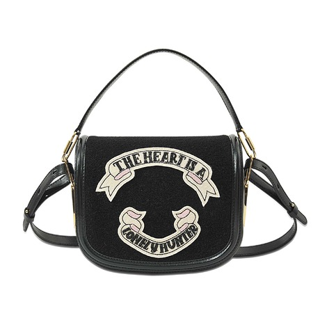OLYMPIA LE-TAN Leather Shoulder Bag With Felt at MONNIER Frères