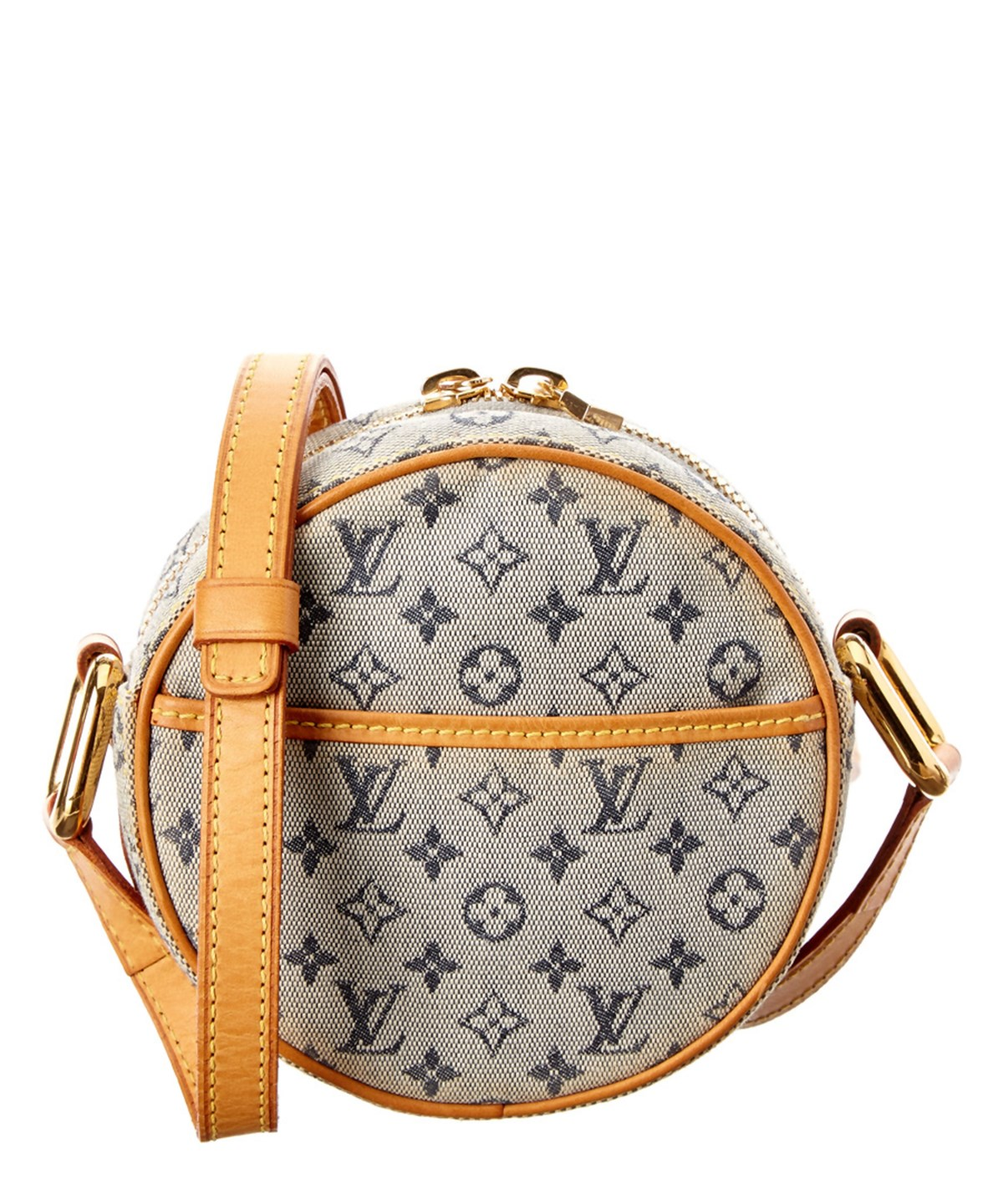 LOUIS VUITTON Blue Monogram Mini Lin Jeanne Pm'