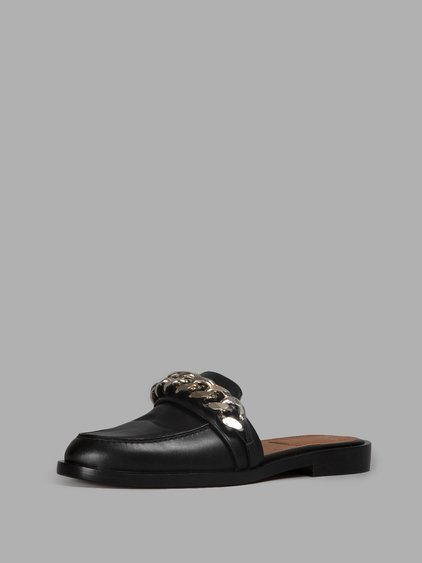 GIVENCHY Chain Croc-Embossed Leather Loafer Slides at Antonioli
