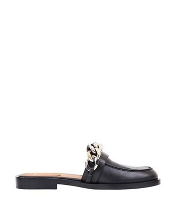GIVENCHY Chain Croc-Embossed Leather Loafer Slides at L'INDE LE PALAIS
