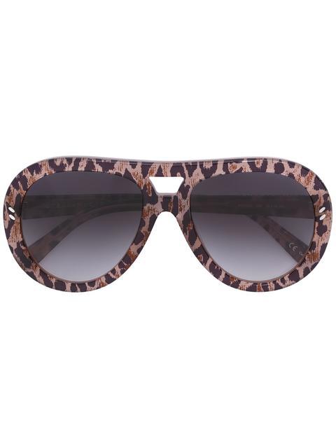 STELLA MCCARTNEY Rounded Aviator Sunglasses