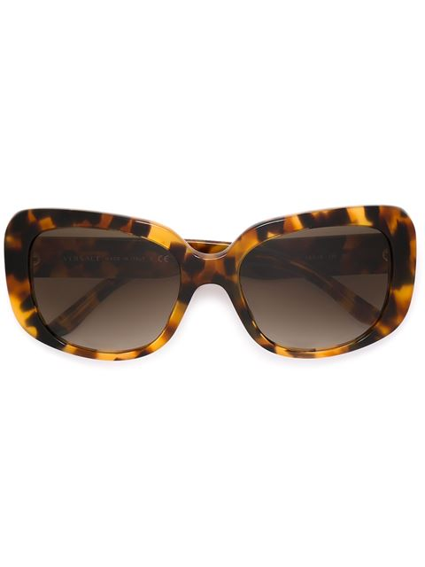 VERSACE Pop Chic Light Havana Sunglasses in This Is A One Colour Product