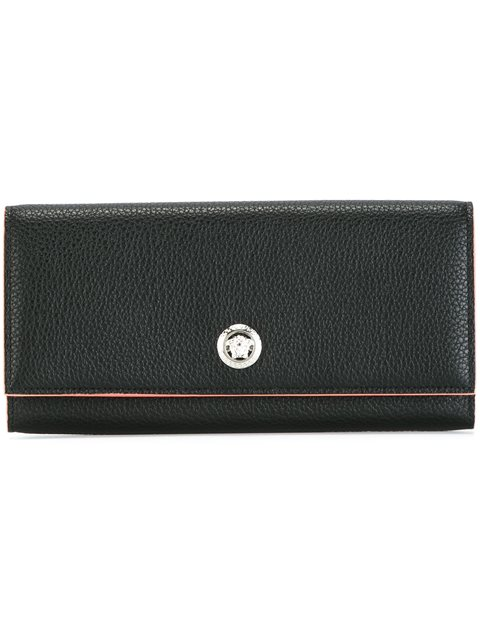 VERSACE Medusa Head Foldover Continental Wallet at Farfetch