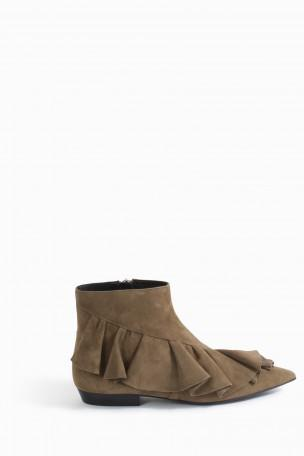 J.W.ANDERSON Ruffle Pointy Toe Bootie (Women) at Boutique 1