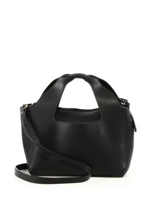 THE ROW 'Two For One 10' Leather Crossbody And Pouch in Na