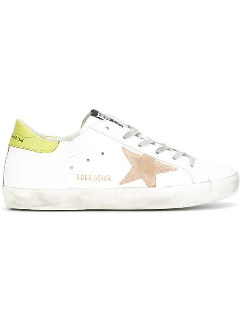 GOLDEN GOOSE Super Star Low-Top Suede And Leather Trainers at Farfetch
