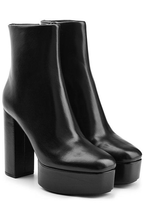 ALEXANDER WANG Cora Leather Platform Ankle Boots at STYLEBOP.com