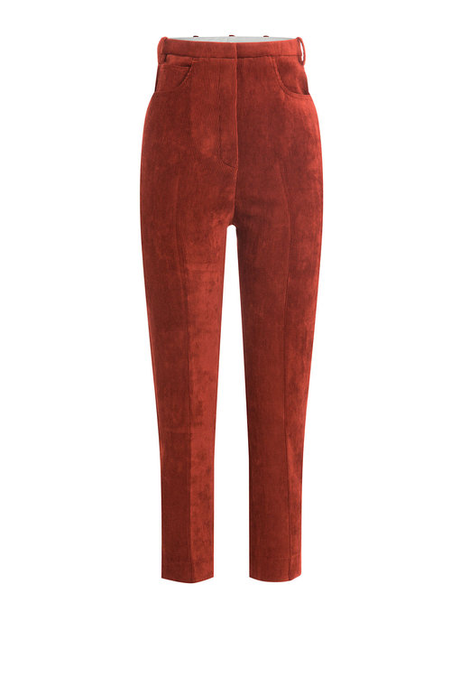 GOLDEN GOOSE Kenzie Cropped Corduroy Trousers at STYLEBOP.com