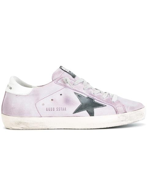 GOLDEN GOOSE Suede Superstar Low Sneakers at Farfetch