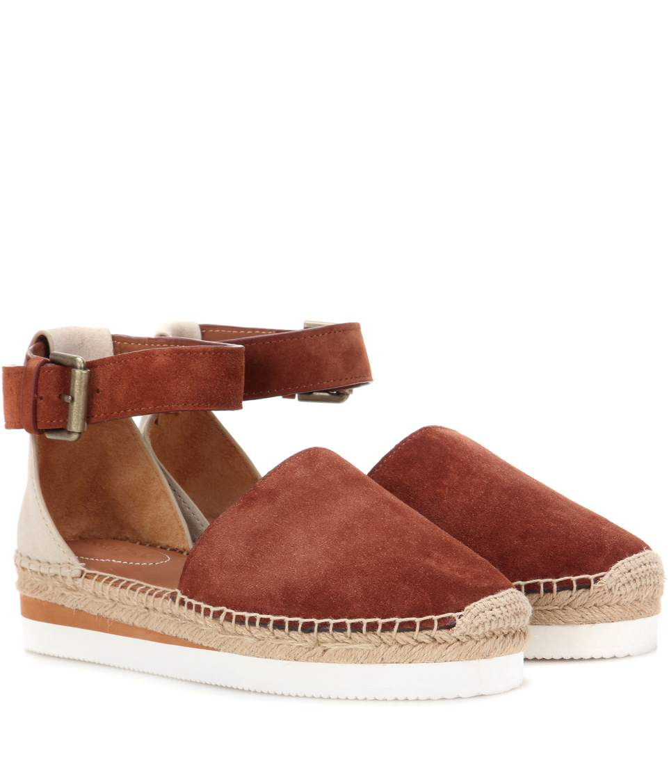 See By Chlo 201 Suede Espadrille Sandals Modesens