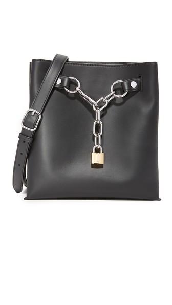 ALEXANDER WANG Attica Chain Shoulder Bag In Smooth Black With Rhodium - Black at Shopbop
