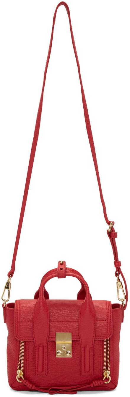 3.1 PHILLIP LIM Red Mini Pashli Satchel