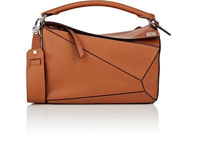 LOEWE Puzzle Medium Leather Shoulder Bag at BARNEYS
