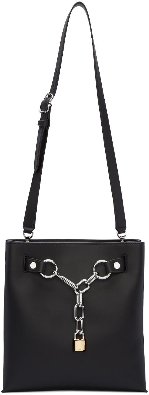 ALEXANDER WANG Attica Chain Shoulder Bag In Smooth Black With Rhodium - Black at SSENSE