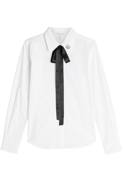 MARC JACOBS Cotton Shirt With Bow And Collar Detail at STYLEBOP.com