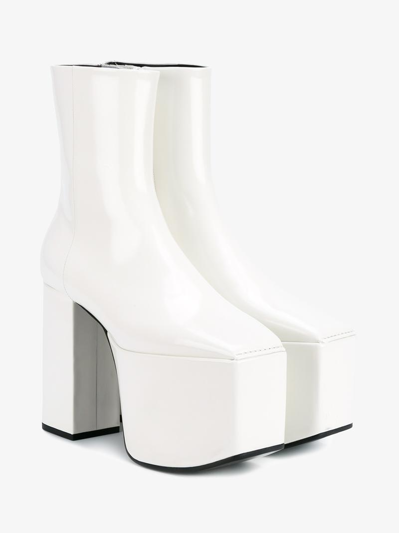 BALENCIAGA Candy Leather Platform Boots