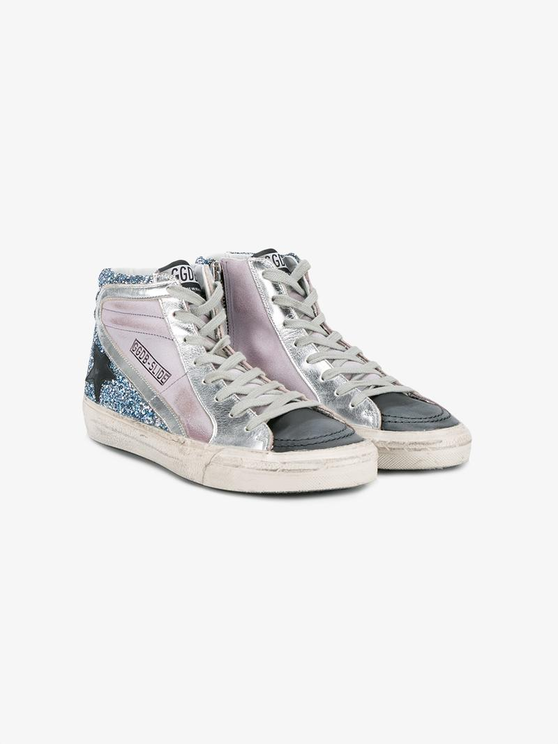 GOLDEN GOOSE Multicolor Slide High-Top Sneakers at Browns Fashion