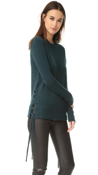 RTA Arianne Cashmere Sweater in Ocean