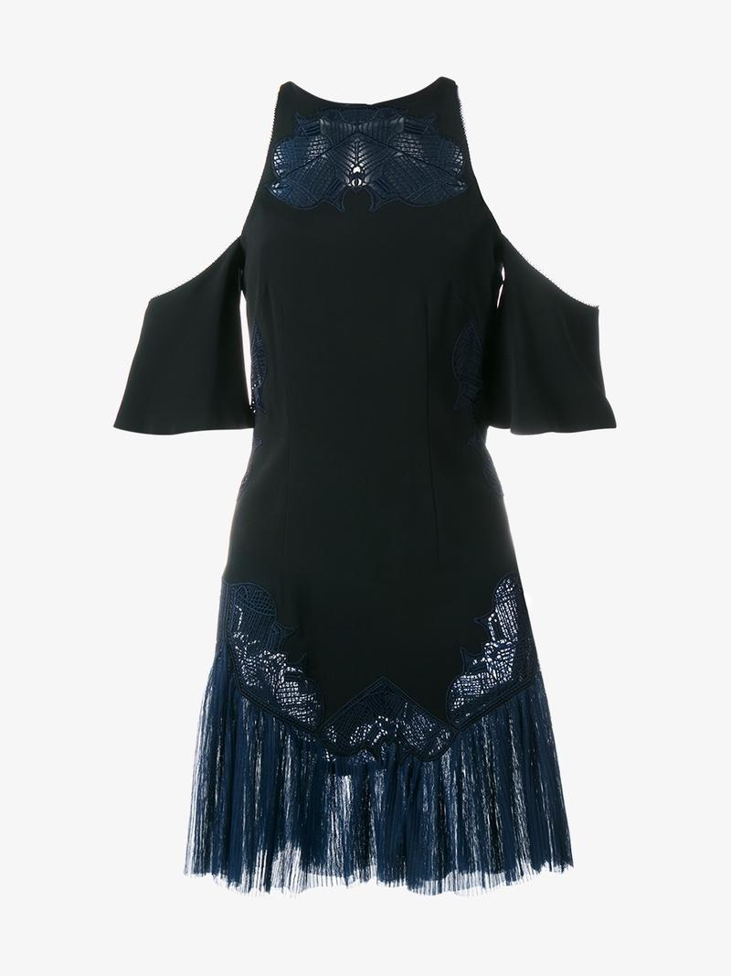 JONATHAN SIMKHAI Embroidered Cold-Shoulder Dress at Browns Fashion