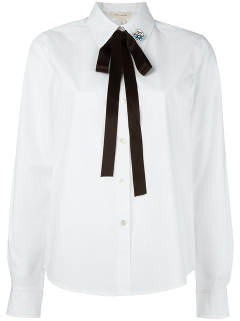 MARC JACOBS Cotton Shirt With Bow And Collar Detail at Farfetch