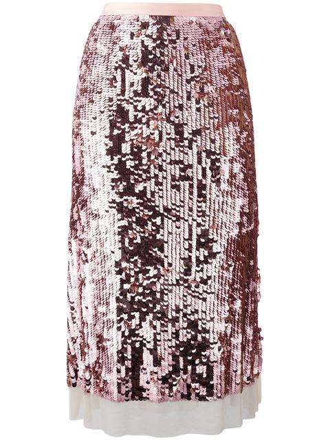 TORY BURCH Sequinned A-Line Skirt