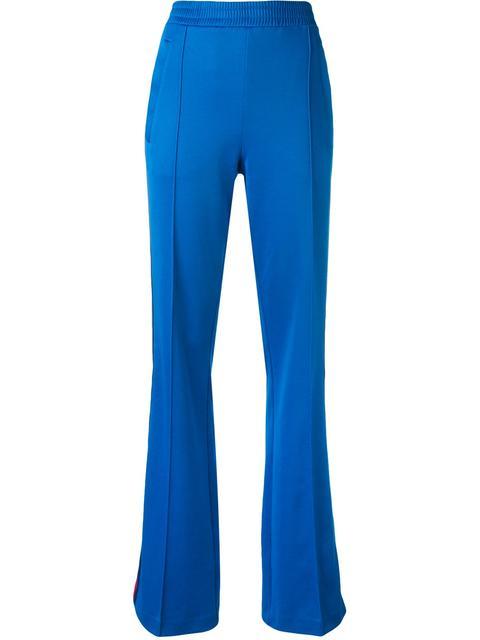 GUCCI Cotton Blend Jersey Sweatpants, Light Blue in Lightblue