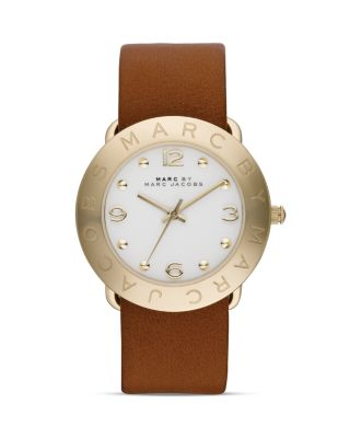 MARC JACOBS Amy Watch, 36Mm in Brown/Gold
