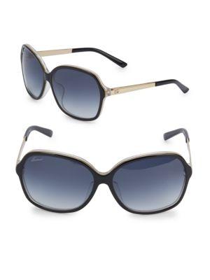 GUCCI Logo-Printed Pilot Sunglasses