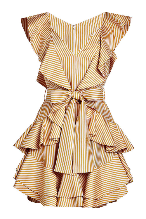 ZIMMERMANN Silk-Blend Twill Dress in Beige