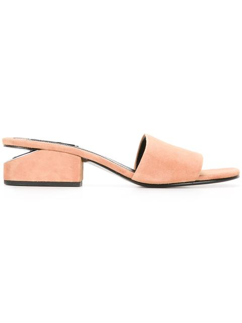 ALEXANDER WANG Lou Suede Sandal With Rhodium - Camel at Farfetch