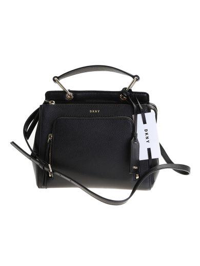 DKNY Black Leather Briant Park Mini Bag