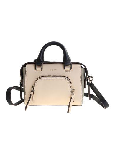 DKNY Beige Leather Greenwich Mini Bag in Multi