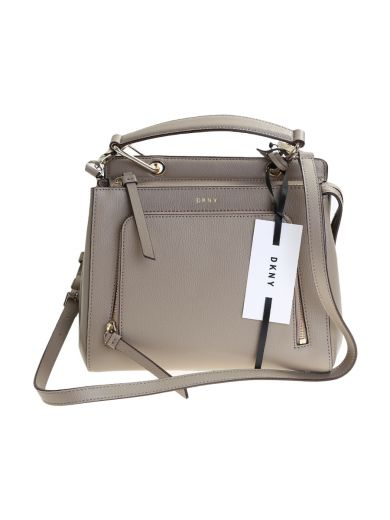DKNY Grey Leather Bryant Park Mini Bag