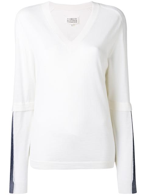MAISON MARTIN MARGIELA Layered Effect Jumper at Farfetch