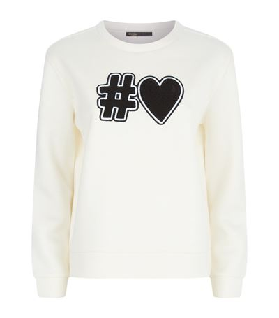 MAJE Turgot Slogan Sweater