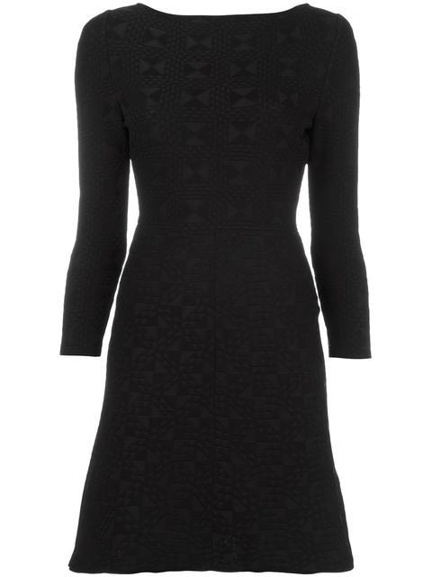 FENDI Fitted Geometric Jacquard Dress