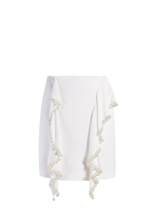 GIVENCHY Floral-Embroidery Stretch-Crepe Skirt in Additional Details Will Be Added When The Item Arrives In Stock