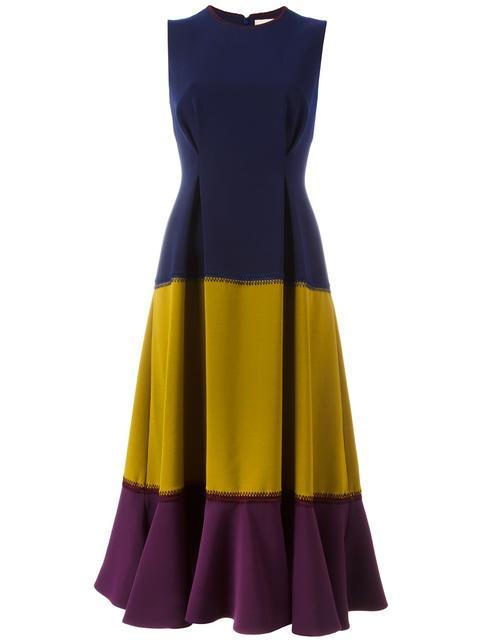 ROKSANDA Ambreen Paneled Stretch-Cady Midi Dress at Farfetch